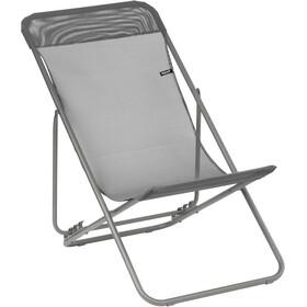 Lafuma Mobilier Transatube2 Chaise de plage Texplast, titane/silex